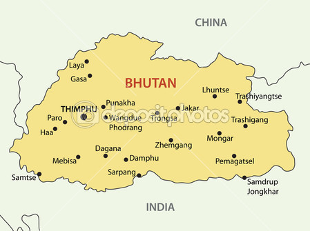 depositphotos_29721033-Kingdom-of-Bhutan---vector-map